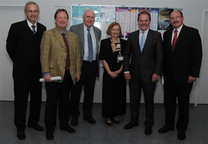 Norbert Baur, Joachim Spatz, Prof. Dr. Rainer Thome, Magdalena Baur, MdL Dr. Wolfgang Heubisch, Wolfgang Kuhl
